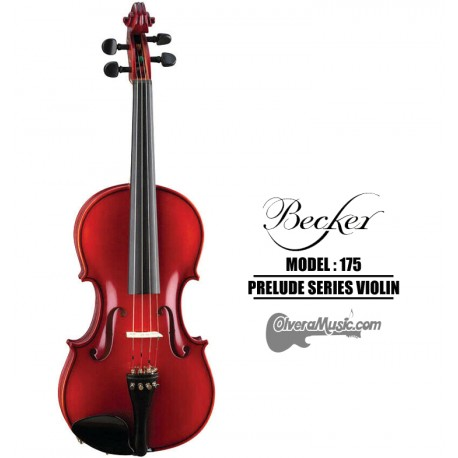 BECKER Prelude Series Red Brown Satin Violin