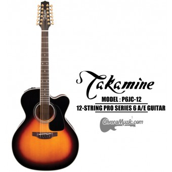 TAKAMINE Pro Series 6 Acoustic/Electric 12-String Guitar - Brown Sunburst