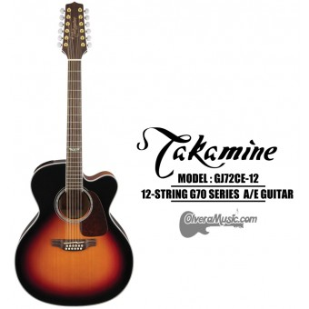 TAKAMINE G70 Series Acoustic/Electric 12-String Jumbo Guitar - Sunburst