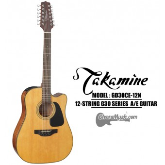 TAKAMINE G30 Series Acoustic/Electric 12-String Guitar - Natural