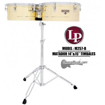 """LP Matador Salsa Timbales 14""""&15"""" - Brass Tone Finish"""