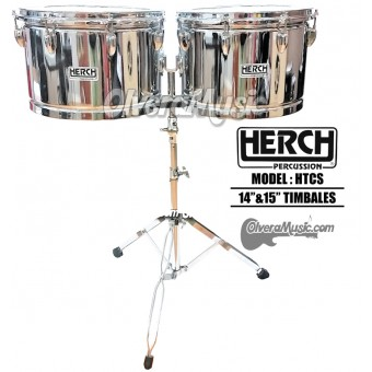 "HERCH Timbales 14"" & 15"" - Chrome Finish"