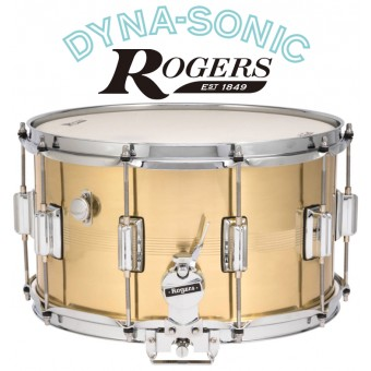 ROGERS 14x8 B7 Brass Dyna-Sonic Snare