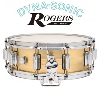 """ROGERS 14""""x5"""" B7 Brass Dyna-Sonic Snare"""