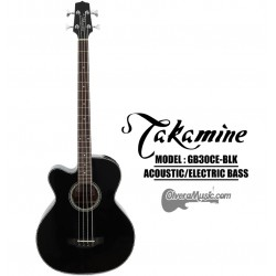 TAKAMINE 4-String Acoustic/Electric Bass - Black