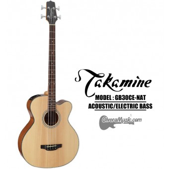 TAKAMINE 4-String Acoustic/Electric Bass - Natural