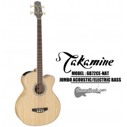 TAKAMINE 4-String Jumbo Acoustic/Electric Bass - Natural