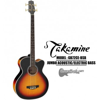 TAKAMINE 4-String Jumbo Acoustic/Electric Bass - Sunburst