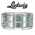"LUDWIG Supralite 14""x6.5"" Steel Snare - Mirror-Polished"