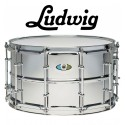 """LUDWIG Supralite 14""""x8"""" Steel Snare - Mirror-Polished"""