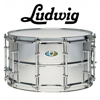 "LUDWIG Supralite 14""x8"" Steel Snare - Mirror-Polished"