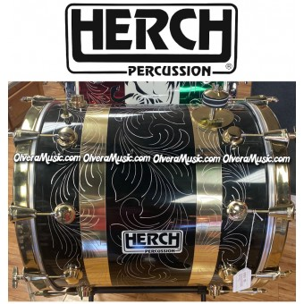 HERCH Bass Drum 20x22 Black w/Engraving 10-Lug