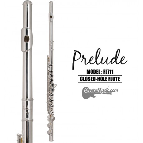 PRELUDE by Conn-Selmer Student Model Closed Hole Flute - Silver-Plated