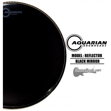 AQUARIAN Reflector Black Mirror Drumhead