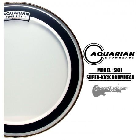 AQUARIAN Super Kick II Drumhead - Clear