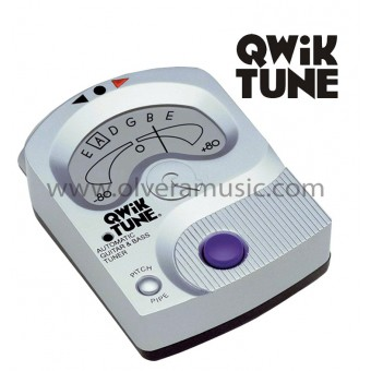 QWIK TUNE Auto Guitar Tuner with Electronic Pitch Pipe