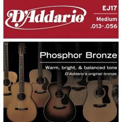 D'Addario (EJ17) Cuerdas Para Guitarra Acustica