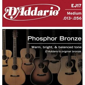 D'ADDARIO Phosphor Bronze Round Wound Acoustic Strings