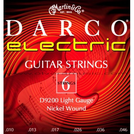 Darco by Martin (D9200) Light Nickel Plated Acoustic Guitar Strings