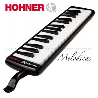 "Hohner (32B) ""Instructor"" Melodica de Teclas Color Negro"