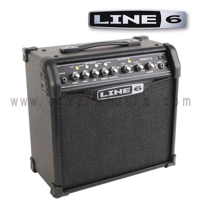 line 6 spider iv 15 15w 1x8 modeling guitar amplifier olvera music. Black Bedroom Furniture Sets. Home Design Ideas