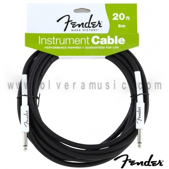 FENDER Cable para Instrumento Serie Performance 20ft. (6m).