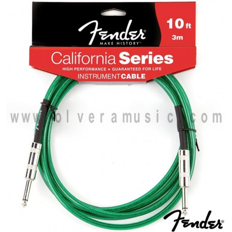 Fender (099-0510-057) California Instrument Cable Green 10ft (3m)
