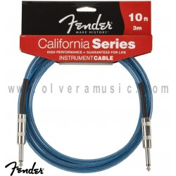 Fender (099-0510-002) Cable para Instrumento Serie California Azul 10ft (3m).