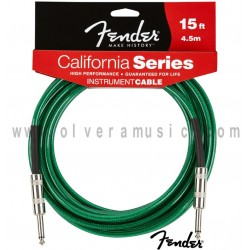 Fender (099-0515-057) Cable para Instrumento Serie California Verde 15ft (4.5m)