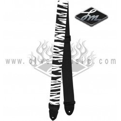 "LM Products (PS4FBW) ""Zebra"" Correa Para Guitarra"