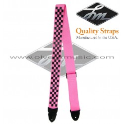 "LM Products (PS4CKP) ""Pink Checkered"" Correa Para Guitarra"