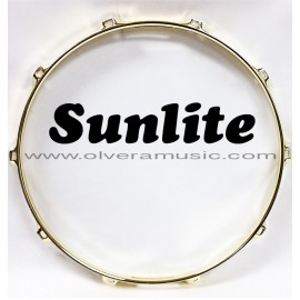 SUNLITE Brass Plated Top Snare Hoop - 10 Lug
