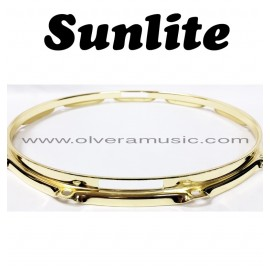 SUNLITE Brass Plated Bottom Snare Hoop - 10 Lug