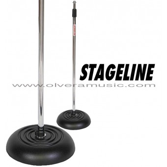 Stageline (MS603C) Round Base Weighted Mic Stand - Chrome