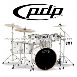 """PDP """"Concept Maple Series"""" 7-Piece Drum Set  - Pearlescent White"""
