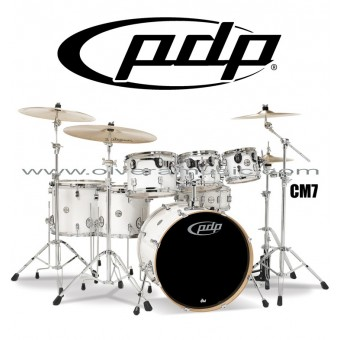 "PDP ""Concept Maple Series"" 7-Piece Drum Set  - Pearlescent White"