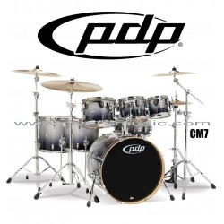 """PDP """"Concept Maple Series"""" 7-Piece Drum Set  - Silver to Black Fade"""