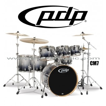 "PDP ""Concept Maple Series"" 7-Piece Drum Set  - Silver to Black Fade"