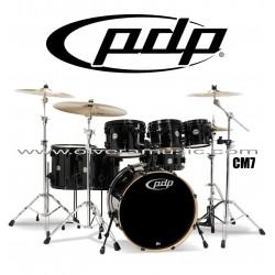 """PDP """"Concept Maple Series"""" 7-Piece Drum Set  - Pearlescent Black"""