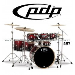 """PDP """"Concept Maple Series"""" 7-Piece Drum Set  - Red to Black Fade"""