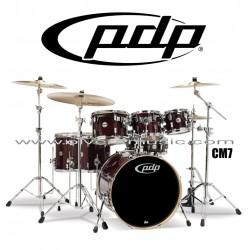 """PDP """"Concept Maple Series"""" 7-Piece Drum Set  - Transparent Cherry"""