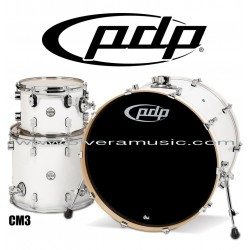 """PDP """"Concept Maple Series"""" 3-Piece Drum Set  - Pearlescent White"""