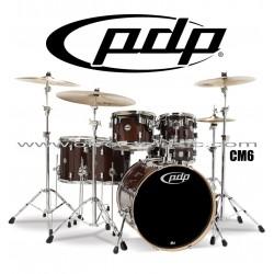 """PDP """"Concept Maple Classic Series"""" 6-Piece Drum Set  - Transparent Walnut"""