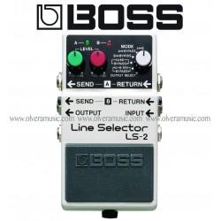 BOSS Line Selector/Power Supply Pedal de Efectos para Guitarra