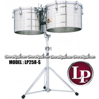 "LP Thunder Tito Puente Timbales 15"" & 16"" Extra Deep Shell - Stainless Steel Finish"
