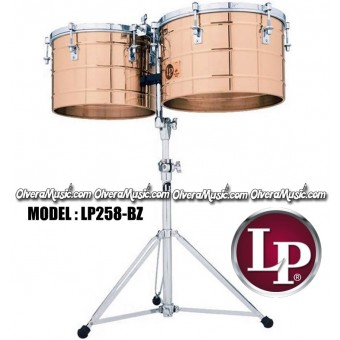 """LP Thunder Tito Puente Timbales 15"""" & 16"""" Extra Deep Shells - Bronze Finish"""