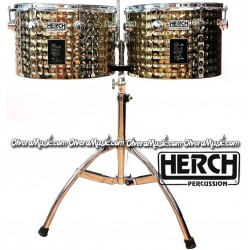 "HERCH ""Gold Tiger"" Timbales 15""&16"" - Gold Color"
