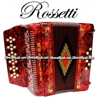 ROSSETTI Diatonic Button Accordion - Pearl Red
