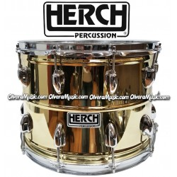 HERCH Snare 10x14 Plain Gold Color LP Model 10-Lug