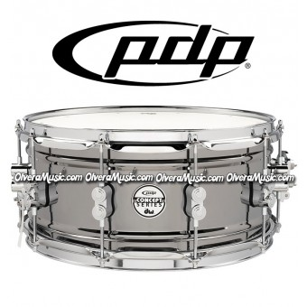 "PDP by DW 14x6.5 ""Concept Series"" Snare 10-Lug Black Nickel"